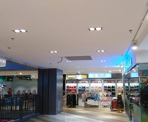 双头LED调光射灯商场照明案例